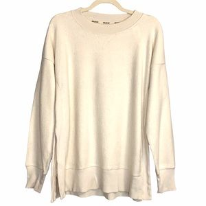Aerie Women's Chill Out Ivory Sweatshirt Small